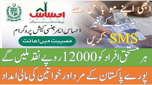 ehsaas program cash 12000 cnic check online registration nadra website 2021